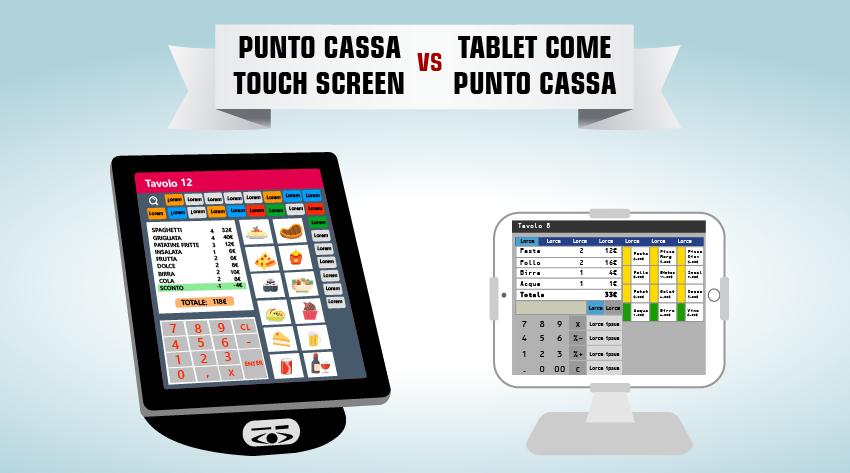 punto cassa touch screen o tablet come registratore di cassa